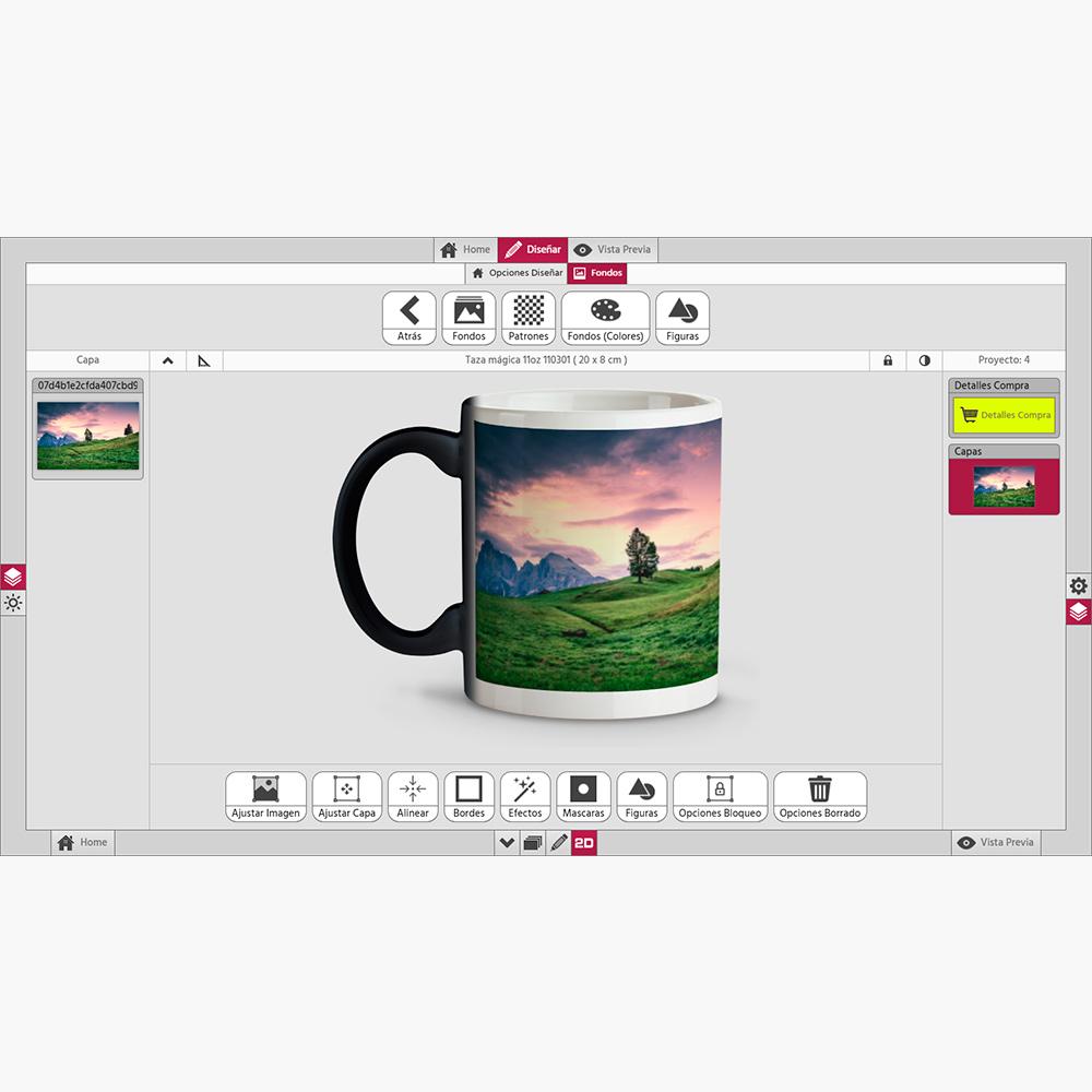 photocenter3d editor tazas personalizadas