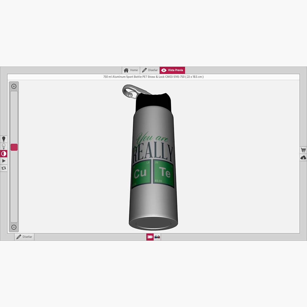 botella personalizada 3d
