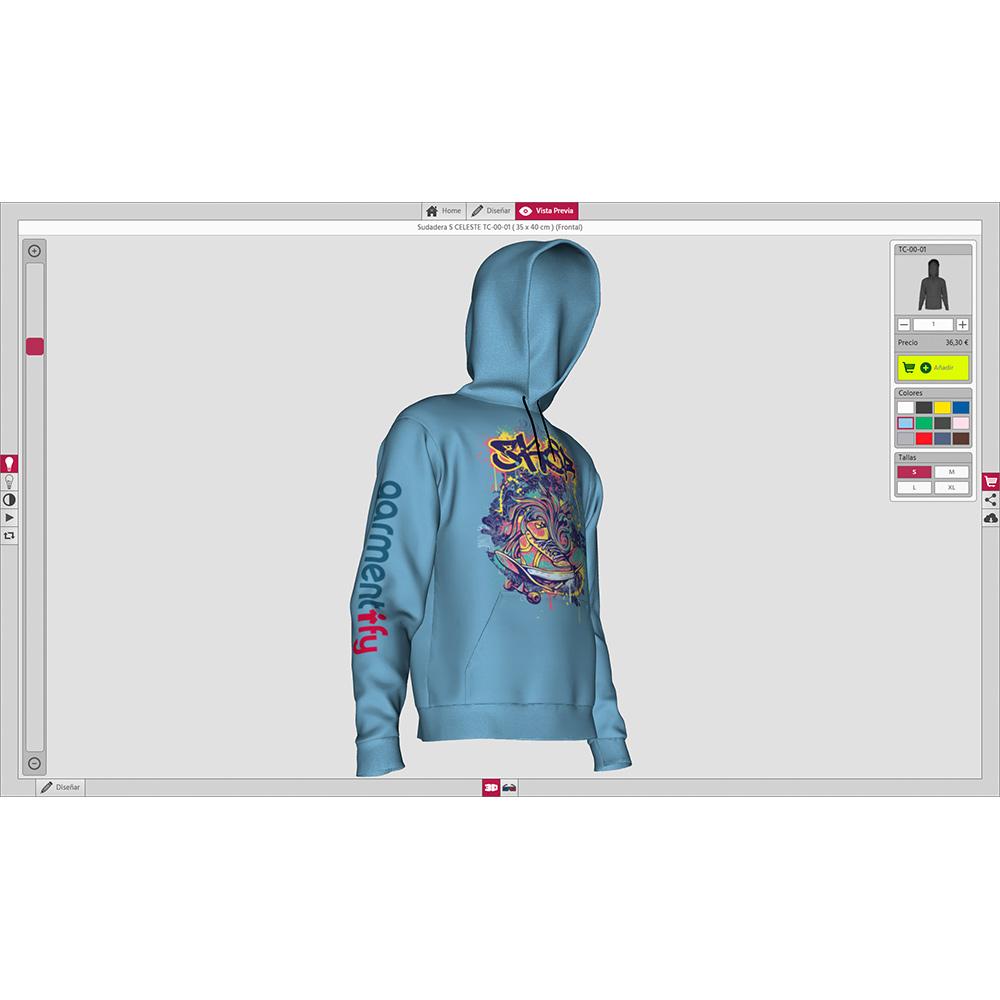 Garmentify Sudadera Hoodie Personalizado